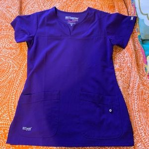 Greys Anatomy Purple Scrub Top